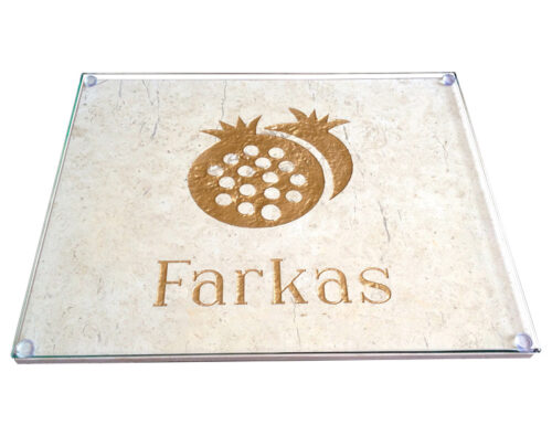 Custom Jerusalem Stone Challah Board - Jane Farkas